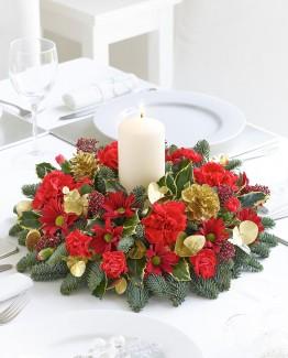 Joyeux Noel Candle Arrangement